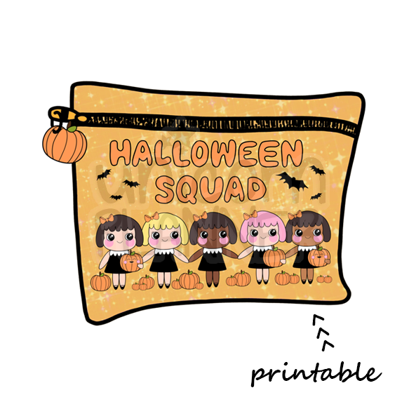 Planner Pouch - Halloween Squad Printable Die Cut (DIGITAL DOWNLOAD)