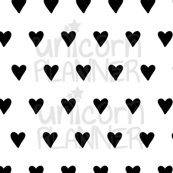 Heart - Black and White Printable Paper (DIGITAL DOWNLOAD)