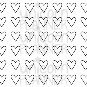 Hearts Printable Paper (DIGITAL DOWNLOAD)