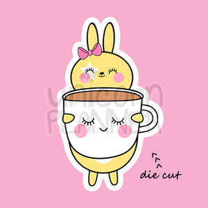 Honey Bunny with Girl Face Coffee Mug (DIE CUT)