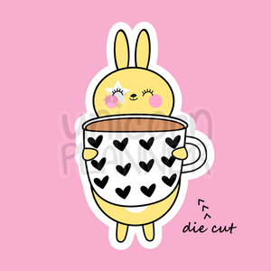 Honey Bunny with Heart Coffee Mug (DIE CUT)