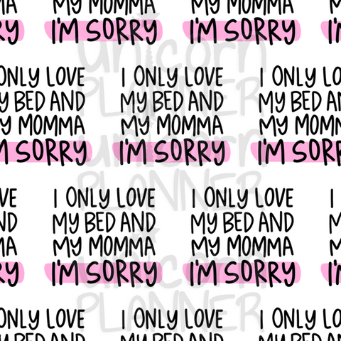 I Only Love Printable Paper (DIGITAL DOWNLOAD)
