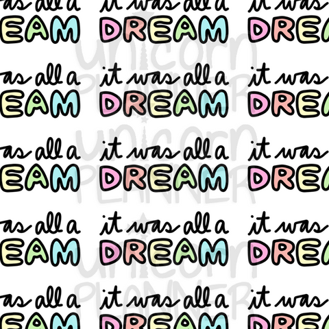 It Was All A Dream Printable Paper (DIGITAL DOWNLOAD)
