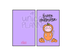 Kitty Cotton Happy Halloween Dashboard (DIGITAL DOWNLOAD)
