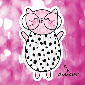 Kitty Cotton with Glasses in Dots Outfit (DIE CUT)