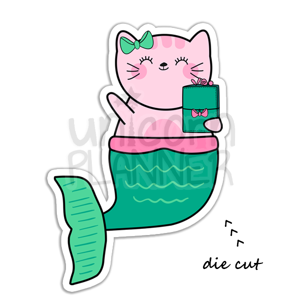 Kitty Cotton Mermaid with TN (DIE CUT)