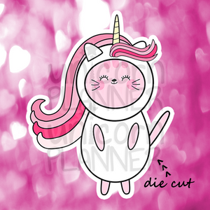 Kitty Cotton in Unicorn Costume (DIE CUT)
