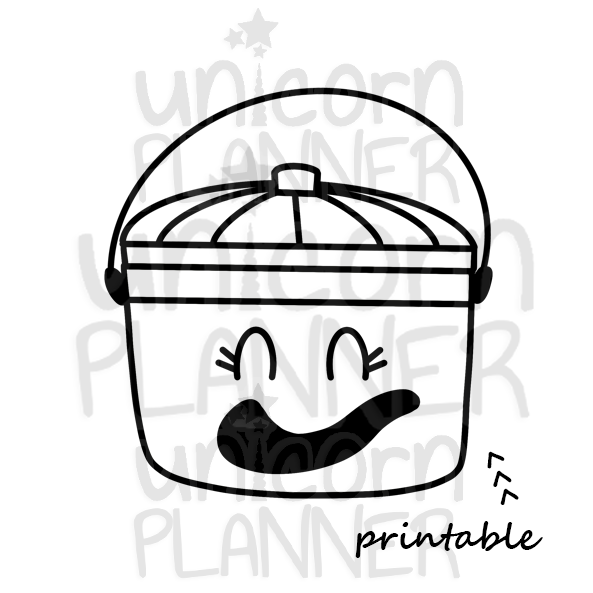 Fast Food Treat Bucket Ghost Printable (DIGITAL DOWNLOAD)