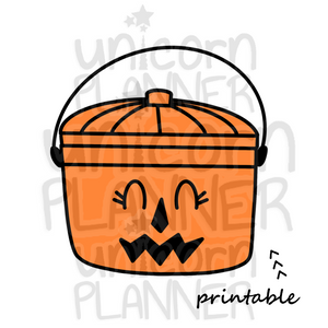 Fast Food Treat Bucket Pumpkin Printable (DIGITAL DOWNLOAD)