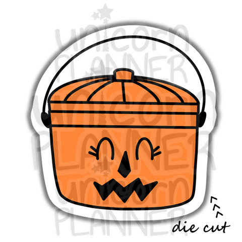 Fast Food Treat Bucket Pumpkin (DIE CUT)
