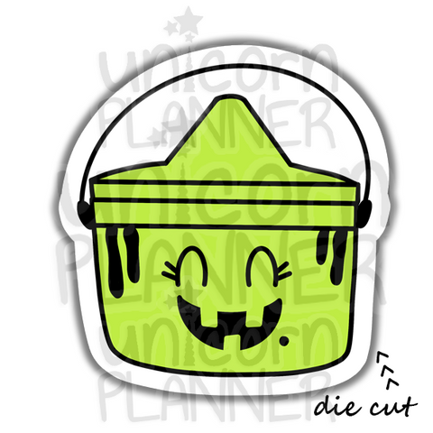 Fast Food Treat Bucket Witch (DIE CUT)