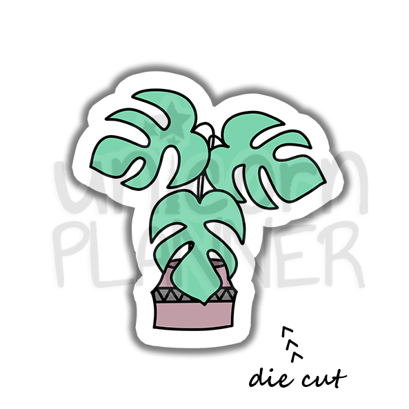 Monstera Plant (DIE CUT)