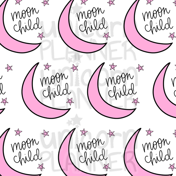 Moon Child Printable Paper (DIGITAL DOWNLOAD)