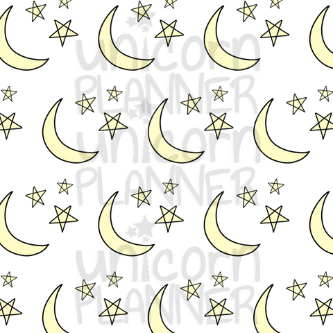 Night Sky Printable Paper (DIGITAL DOWNLOAD)