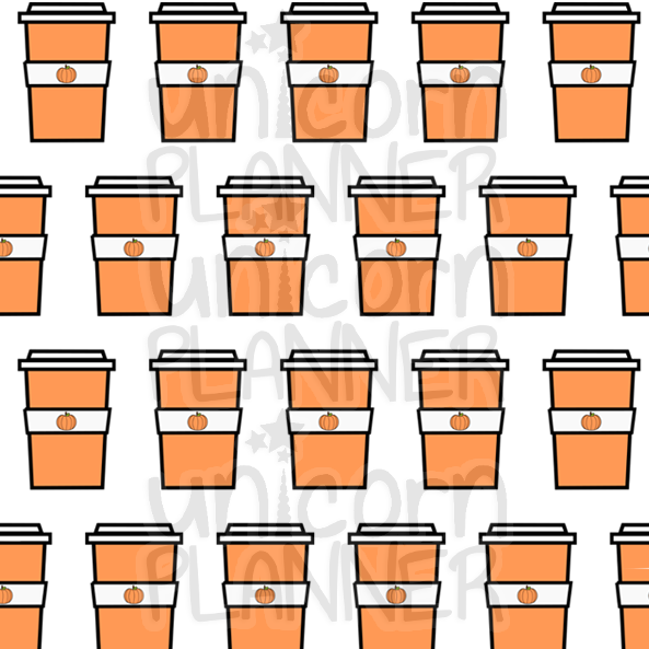 Pumpkin Spice Latte Printable Paper (DIGITAL DOWNLOAD)
