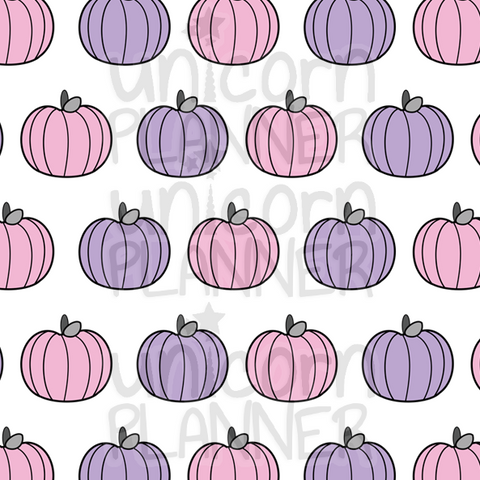 Pastel Pumpkins Printable Paper (DIGITAL DOWNLOAD)