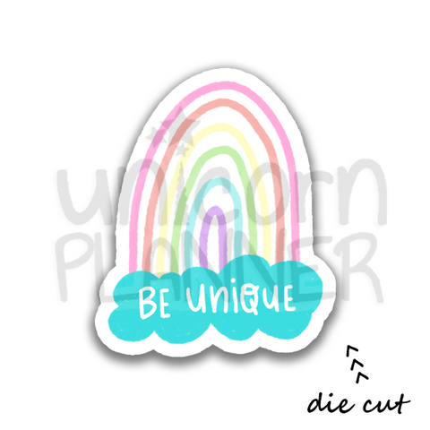 Pastel Rainbow Be Unique (DIE CUT)