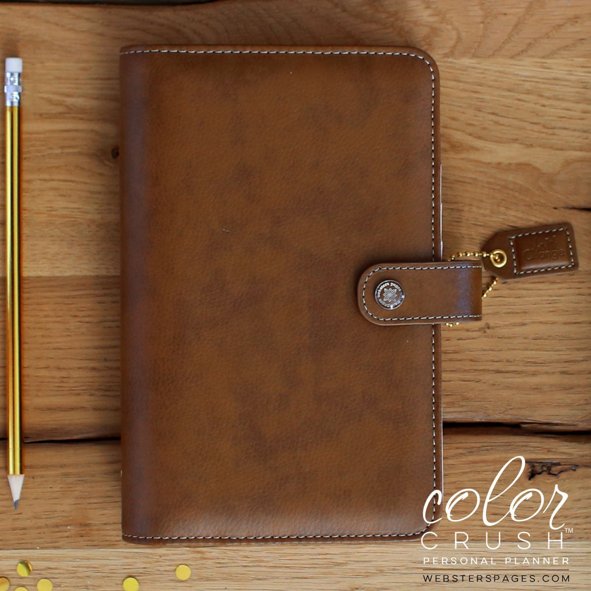 Webster's Pages Personal Planner in Walnut - Unicorn Planner