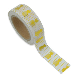 Pineapple Crush Gold Foil Washi Tape - Unicorn Planner