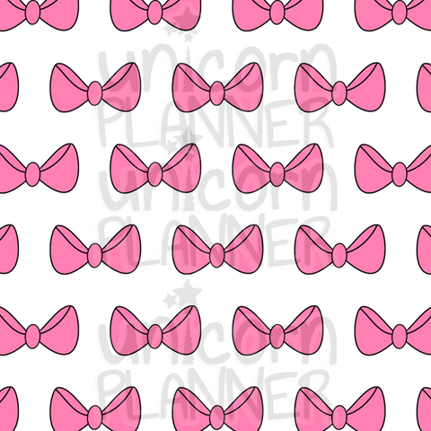 Bow Pink Printable Paper (DIGITAL DOWNLOAD)