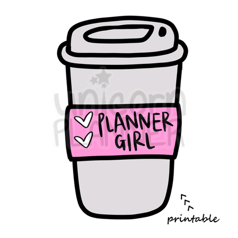 Planner Girl Coffee Cup (DIGITAL DOWNLOAD)
