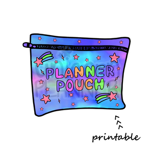 Planner Pouch - Cosmic Blue Printable Die Cut (DIGITAL DOWNLOAD)