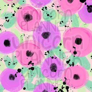 Poppy Splatter Printable Paper (DIGITAL DOWNLOAD)