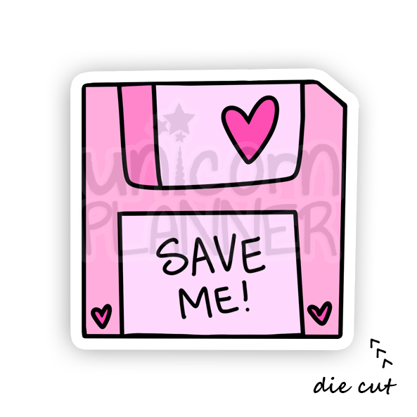 Save Me Floppy Disk (DIE CUT)