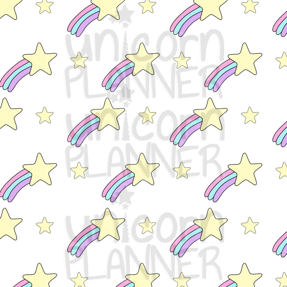 Shooting Stars Printable Paper (DIGITAL DOWNLOAD)