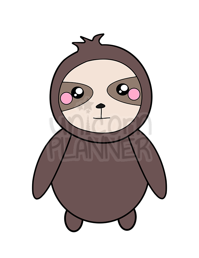 Simon the Sloth Printable (DIGITAL DOWNLOAD)