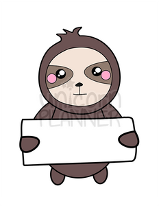 Simon the Sloth with Sign Printable (DIGITAL DOWNLOAD)