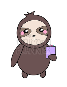 Simon the Sloth with Travelers Notebook Printable (DIGITAL DOWNLOAD)