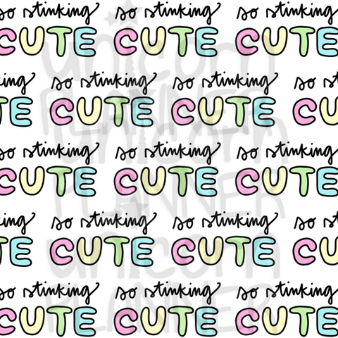 So Stinking Cute Printable Paper (DIGITAL DOWNLOAD)