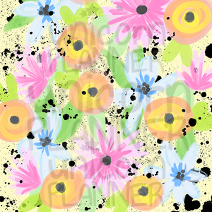 Spring Floral Printable Paper (DIGITAL DOWNLOAD)