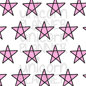 Stars Pink Printable Paper (DIGITAL DOWNLOAD)