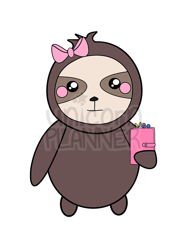 Stella the Sloth with Planner Printable (DIGITAL DOWNLOAD)