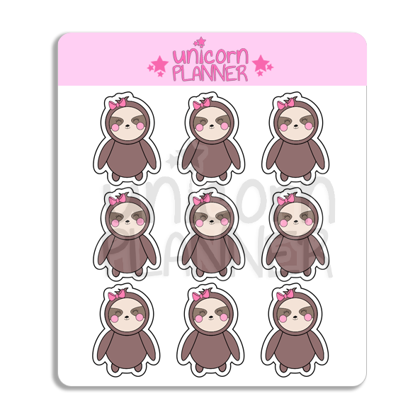 Stella the Sloth (STICKERS)