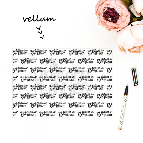 The Future is Bright (VELLUM)