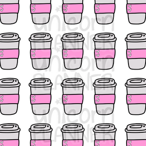 Travel Coffee Cup Printable Paper (DIGITAL DOWNLOAD)