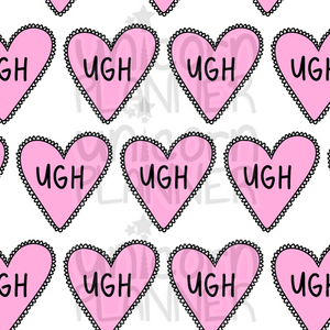 Ugh Heart Printable Paper (DIGITAL DOWNLOAD)