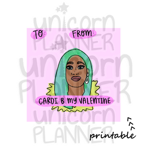 Valentine Cardi B (DIGITAL DOWNLOAD)