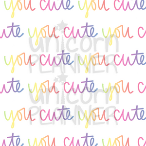 You Cute Printable Paper (DIGITAL DOWNLOAD)