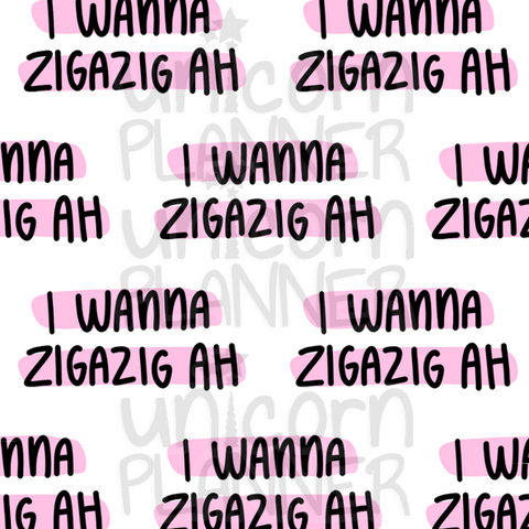 Zigazig Ah Printable Paper (DIGITAL DOWNLOAD)
