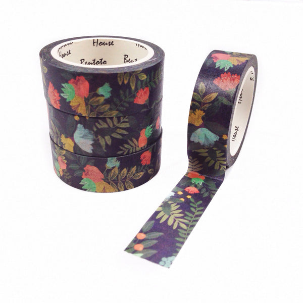 Forest Floral Washi Tape