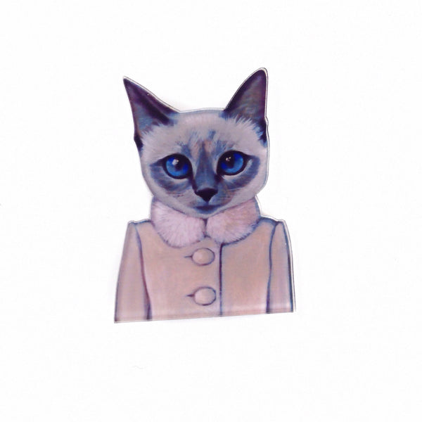 Siamese Kitty Pin