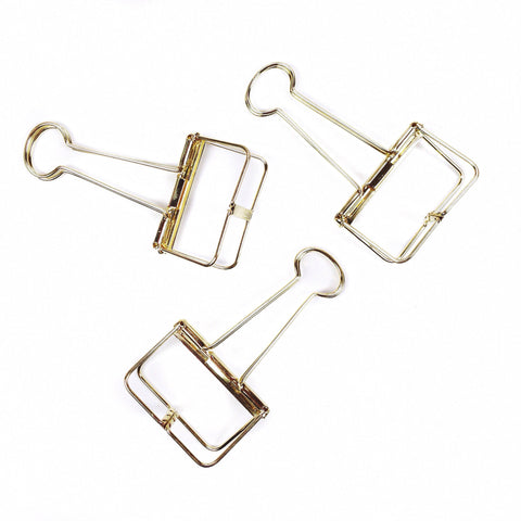 Jumbo Gold Skeleton Binder Clip