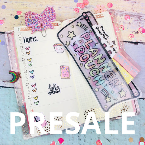 (PRESALE) Hobo Weeks Paper Planner Pouch - Cosmic - Laminated (PREMADE)