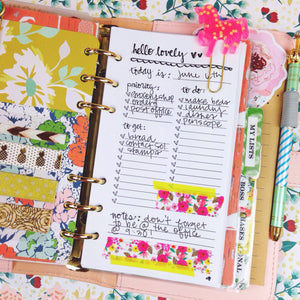 Hello Lovely - Daily To Do List Printable Personal Planner Insert - Unicorn Planner