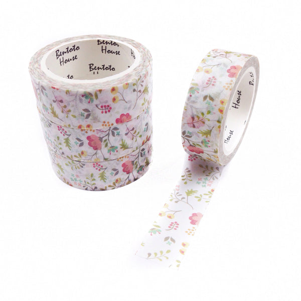 Romantic Garden Floral Washi Tape