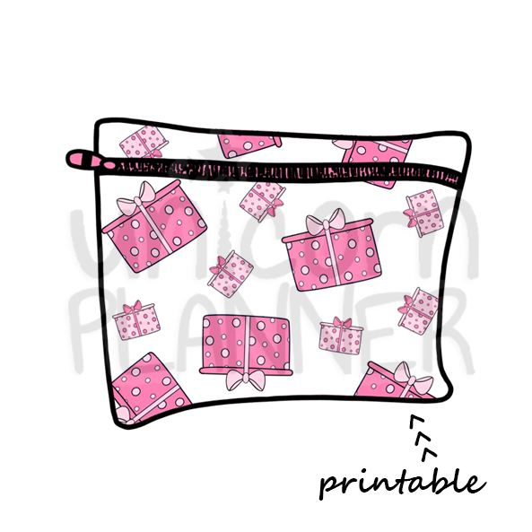 Planner Pouch - Christmas Gifts Printable Die Cut (DIGITAL DOWNLOAD)